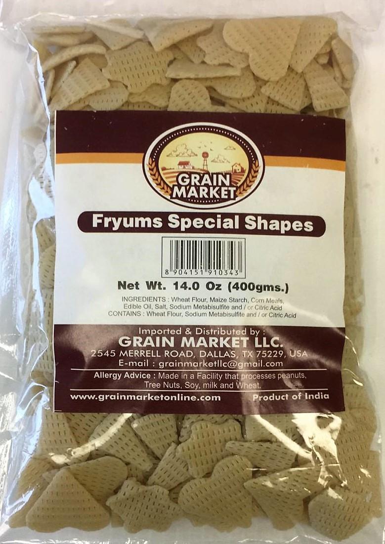 Grain Market Fryums Special Shapes - 400g