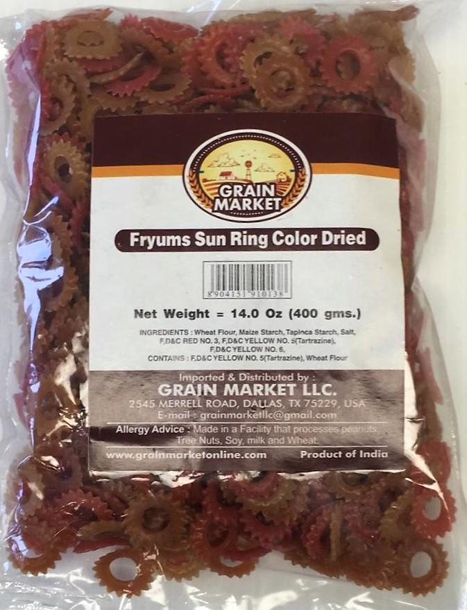 Grain Market Fryums Sun Ring Color Dried - 400g