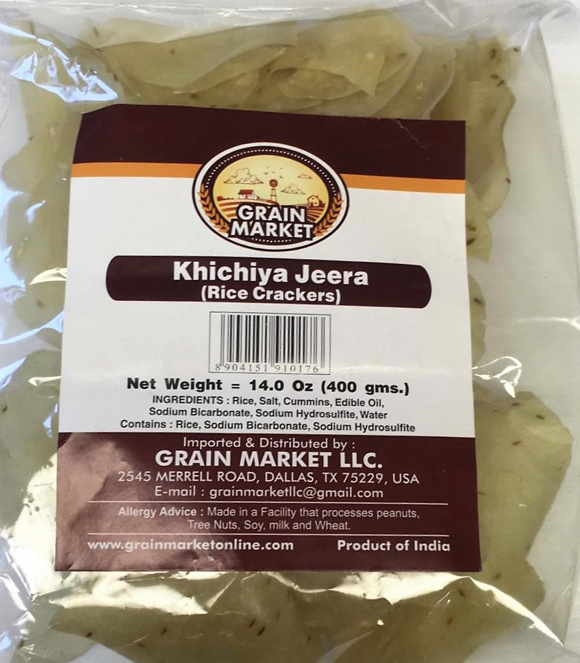 Grain Market Khichiya Jeera(Rice Crackers) - 400g