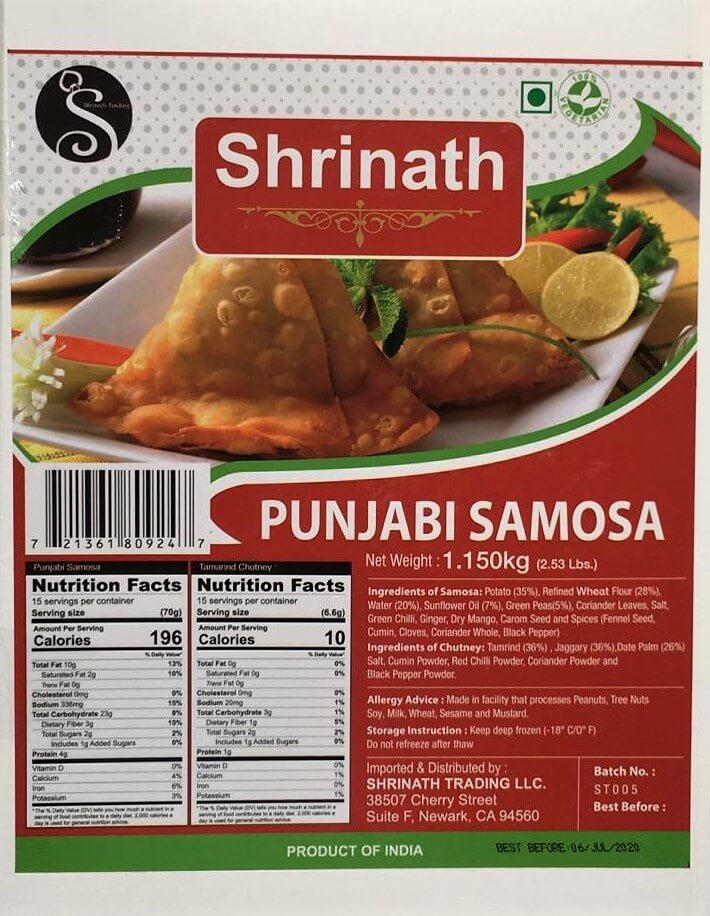 Shrinath Punjabi Samosa (Frozen) - 1.15 kg