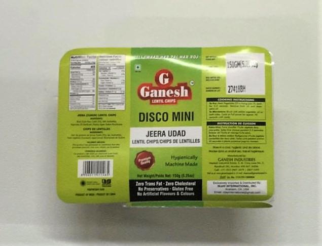 Ganesh Disco Mini - Jeera Udad Lentil Chips - 150 g
