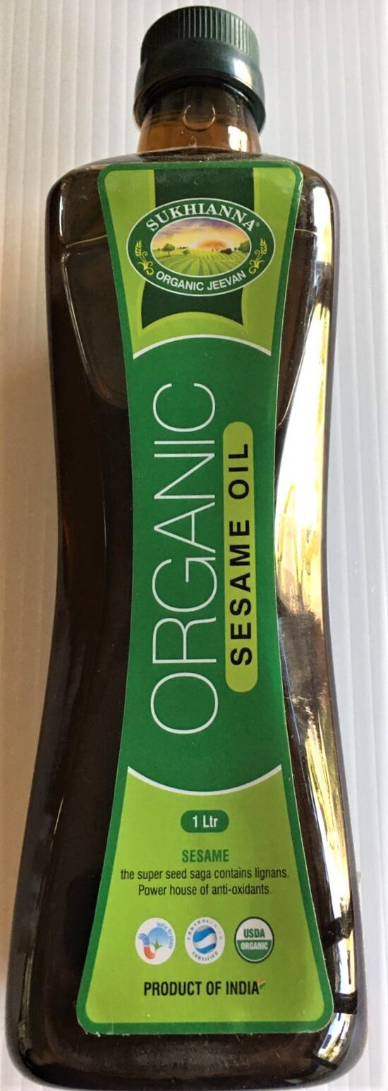 Sukhianna Organic Sesame oil - 1 lit