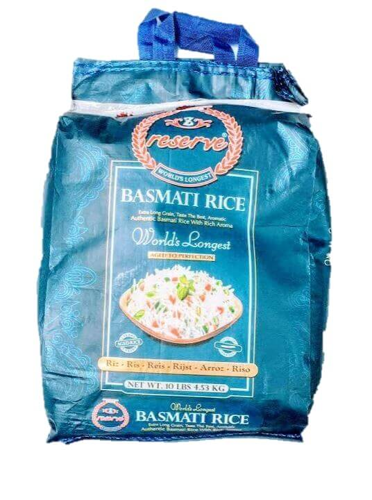 Zafrani Reserve extra long grain Basmati Rice - 10 lb